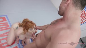Lauren Phillips hard anal after nude wrestling fight with Lance Hart